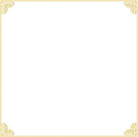 gold border frame clipart hq png image freepngimg