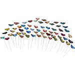 Juvale Butterfly Stakes - 60-Pack Butterfly Garden Decor, Decorative Outdoor Garden Stakes for Garden Planters and Flower Pots, Assorted