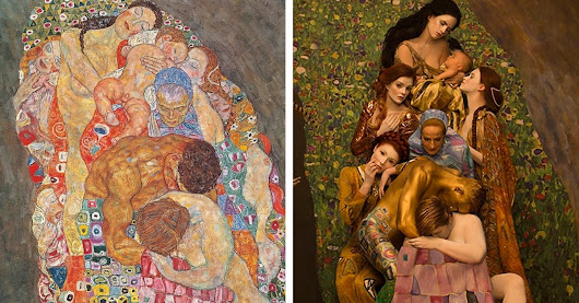 Gustav Klimt's Famous Paintings Get Recreated with Live Models
