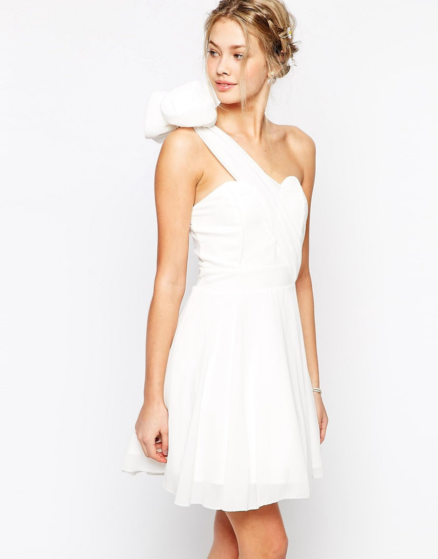 Image 1 of TFNC Debutant One Shoulder Dress With Corsage Detail
