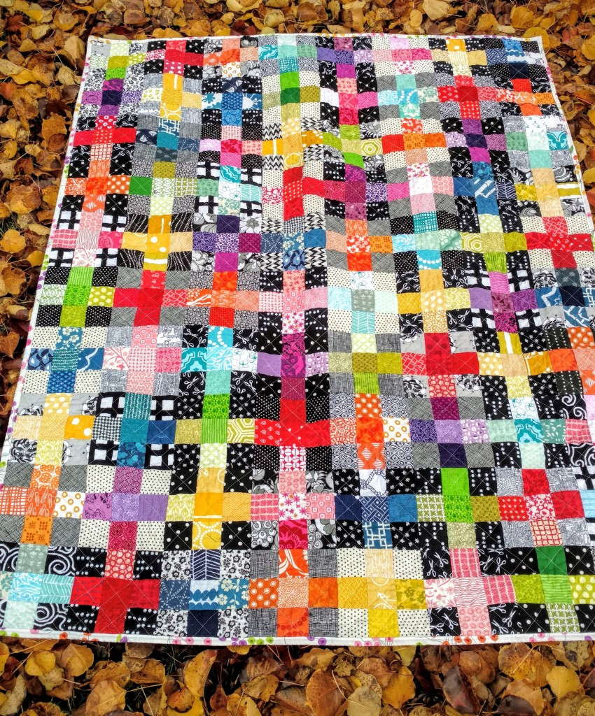 rainbow scrappy charming plus quilt (1)