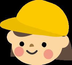 幼稚園保育園のこどもと帽子無料イラストフリー素材