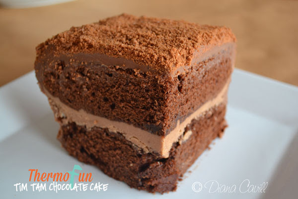 Thermomix Chocolate Cake Recipe - with Tim Tams - ThermoFun
