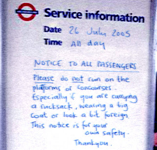 Spoof London Underground Sign on Stockwell Shooting
