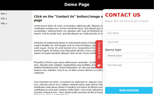 Sliding Contact Form
