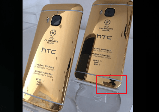 HTC introduces 24-karat gold One M9 using a photo taken with an iPhone