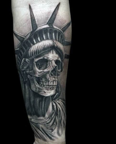 70 Statue Of Liberty Tattoo Designs For Men New York City