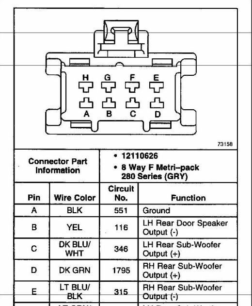 Cadillac Bose Wire Diagram