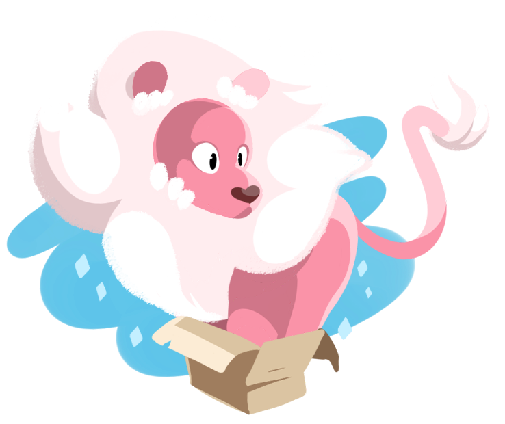 Simple warm up doodle. Lion from Steven Universe