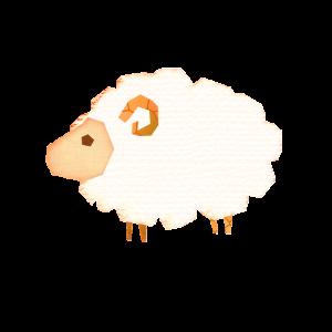 羊のコラージュ風イラスト 2015年羊オシャレ年賀状を作るための