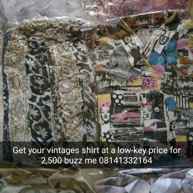 Guys Get Your Vintage Shirt At Affordable Price