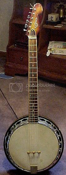 Conard 6-string banjo with Fender-style head