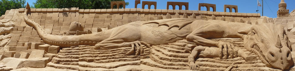 The theme of the Seventh International Sand Sculpture Festival was discoveries