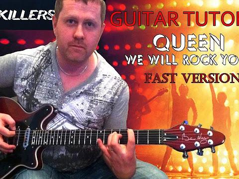 Queen - We Will Rock You (Fast Version) guitar tutorial Guitar tab ...