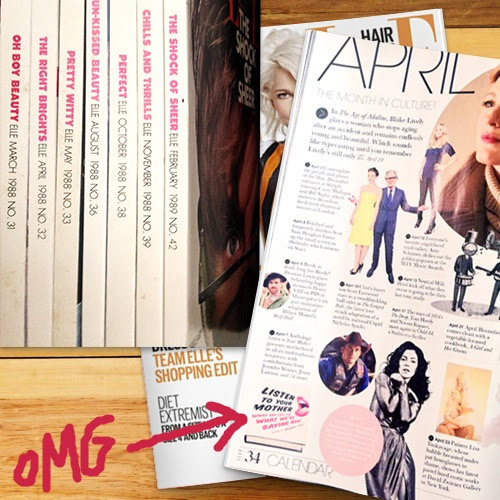 Author Advice: Save your Elle Magazines for 30 years for when you end up in Elle