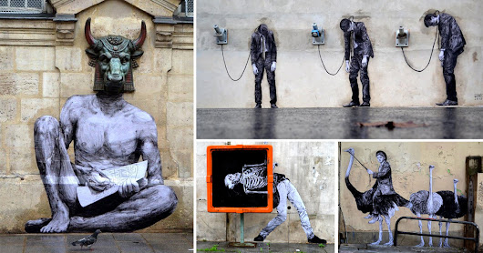 French Artist 'Levalet' Injects Humor into the Streets of Paris with New Site-Specific Street Art