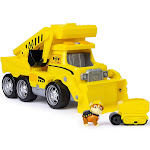 Nickelodeon Paw Patrol, Ultimate Rescue Construction Truck with Lights, Sound and Mini Vehicle for Ages Three and Up, Yellow