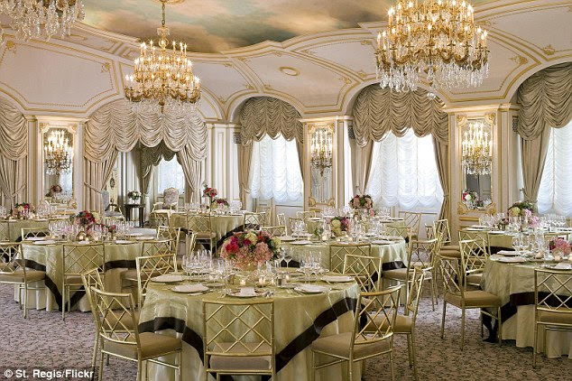 Lavish: This is the ballroom of the St.. Regis Hotel in Manhattan - where Kappa Beta Phi met in January 2012 and were infiltrated by reporter Kevin Roose
