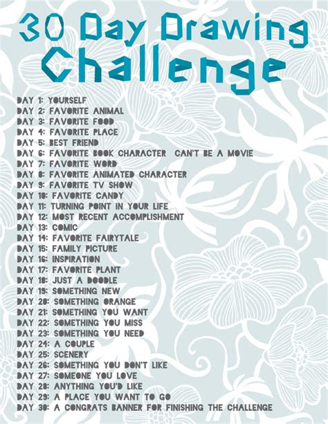 day drawing challenge