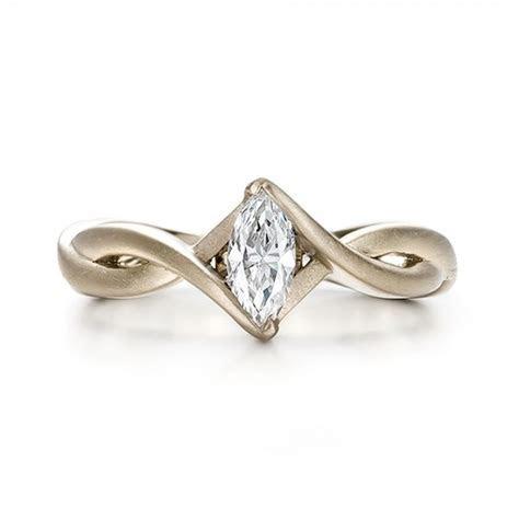 Custom Solitaire Marquise Diamond Engagement Ring #100642