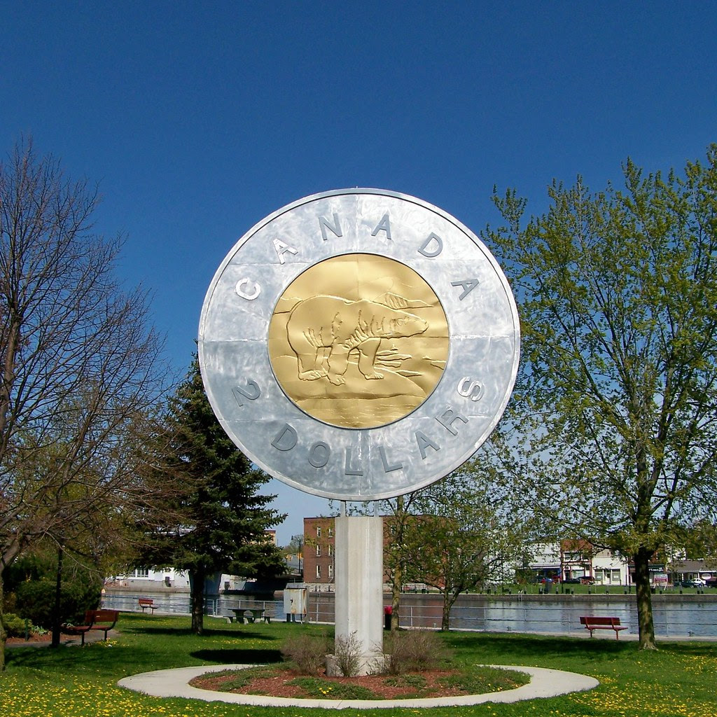 The Giant Toonie In Campbellford Ontario Because The