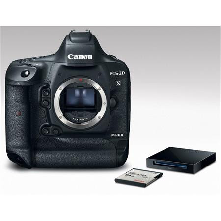 Special   Canon EOS-1DX Mark II Digital SLR Camera - Premium Kit with 64GB CFast 2.0 Memory Card and Reader