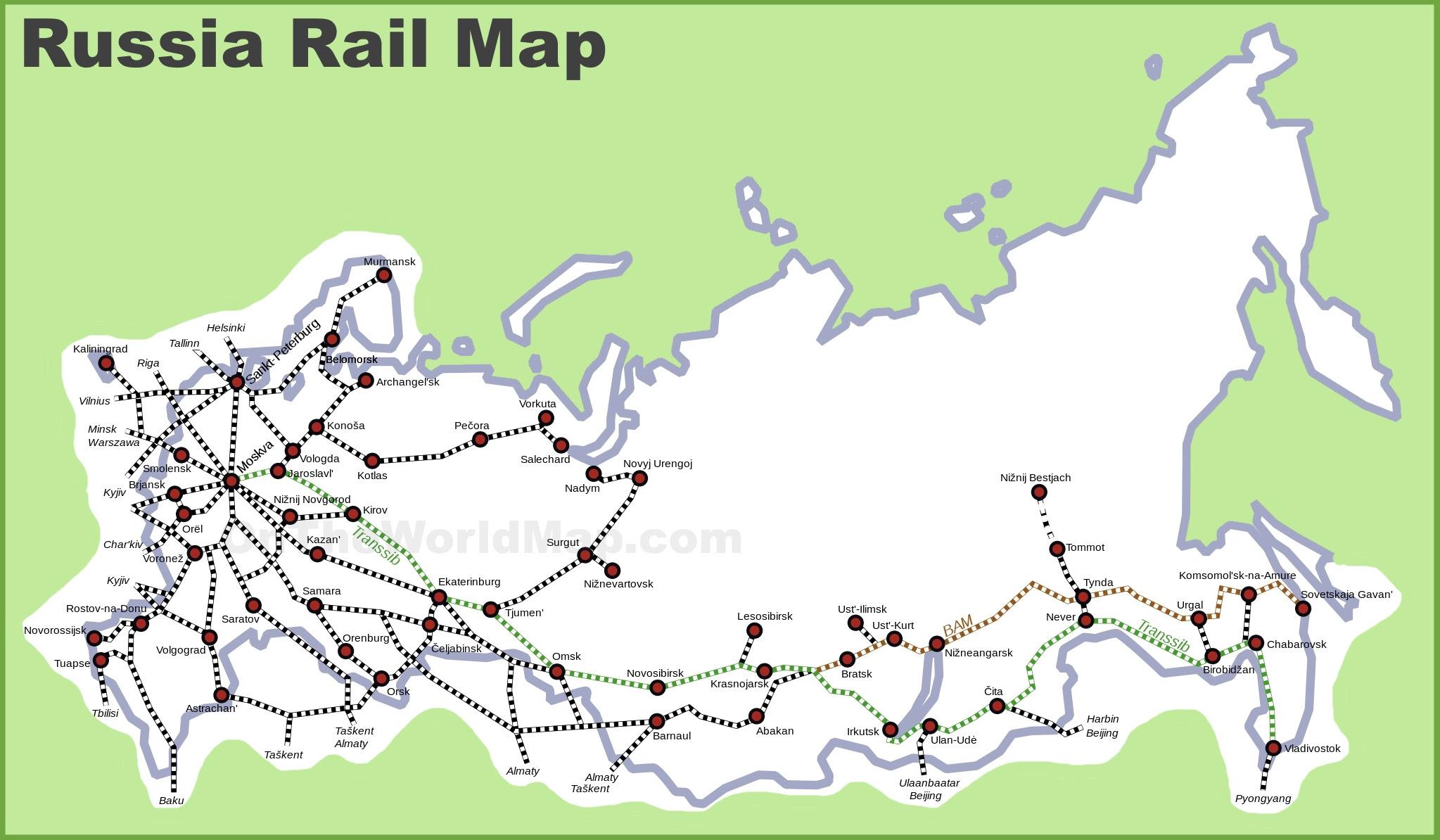 russia rail map