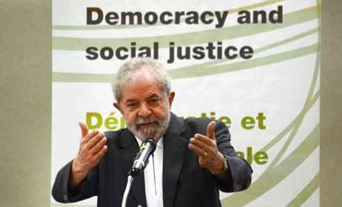 São Paulo - O ex-presidente Luiz Inácio Lula da Silva participou do segundo dia do Seminário da Aliança Progressista: Democracia e Justiça Social no Hotel Maksoud Plaza (Rosa/Agência Brasil)