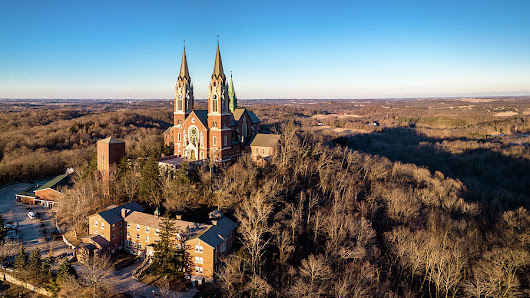 Holy Hill In January by Randy Scherkenbach