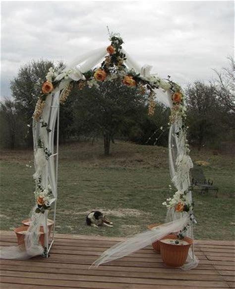 Best 20  Wedding arch tulle ideas on Pinterest   Simple