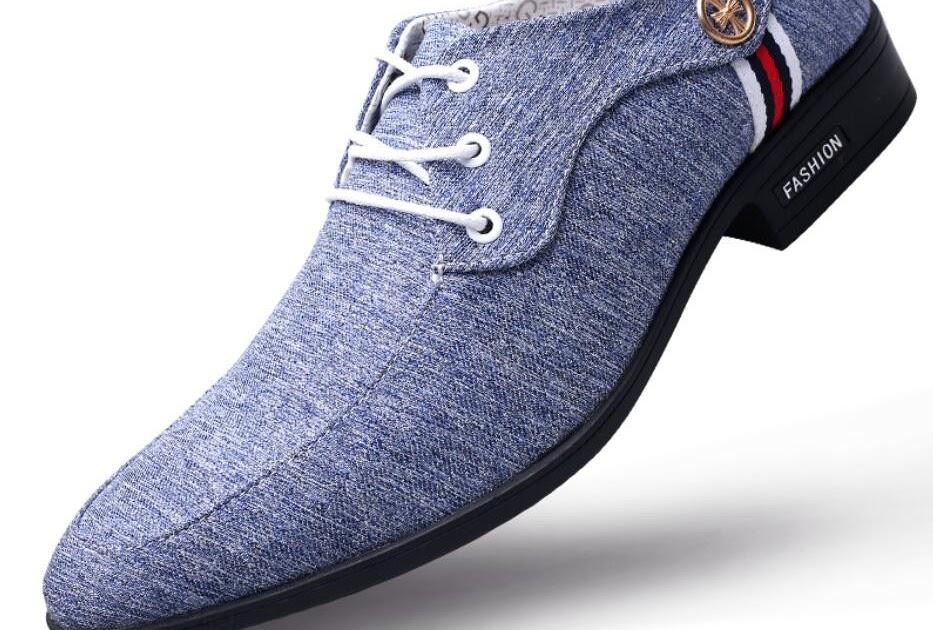 44a1acfc2bb Kopen Goedkoop Kantoor Mannen Jurk Pak Schoenen Italiaanse Bruiloft Casual  Derby Man Ademend Canvas Lederen Zapatos Hombre Online ~ evilzhide