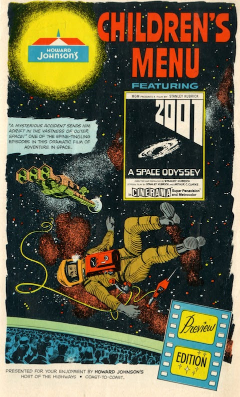 Howard Johnson's Presents a Children's Menu Featuring Kubrick's 2001: A Space Odyssey (1968)