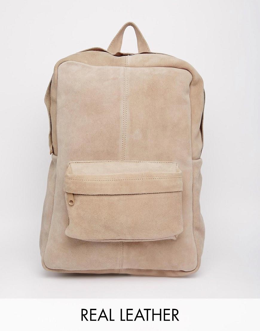 Image 1 ofPark Lane Suede Backpack
