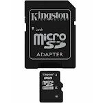 Kingston MicroSDHC 8 GB Memory Card with MicroSDHC to SD Adapter