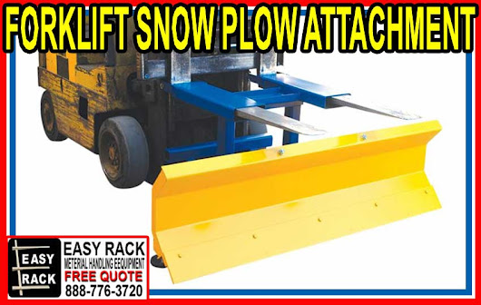 Forklift Snow Plow Attachment For Sale - Material Handling Equipment Company