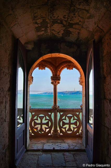 Belem's Tower balcony by Pedro Giaquinto, via Flickr