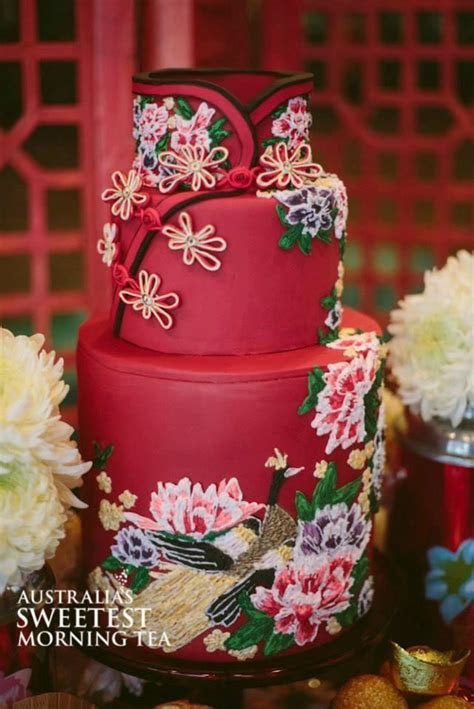 Oriental Wedding   Chinese Dress Inspired Cake #2058895