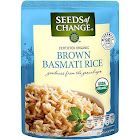 Seeds of Change Whole Grain Brown Basmati Rice, Rishikesh - 8.5 oz pouch