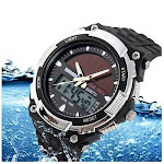 Sundial Solar Powered Sports Wrist Watch - Color: Silver
