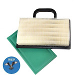 HQRP Air Filter Cartridge w/ Pre-cleaner for John Deere GY20575, GY21056, MIU11286 Replacement fits D140, D130, Z425 Lawn Tractor + HQRP Coaster