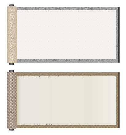 巻物フレーム枠のイラストaieps ベクタークラブイラストレーター
