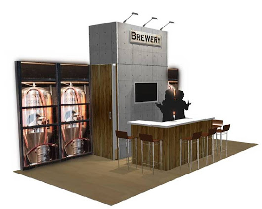 Exhibit Booth Bar - Trade Show Display Bar - Booth Looks Like A Bar