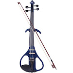 ammoon full size 4/4 solid wood electric silent violin