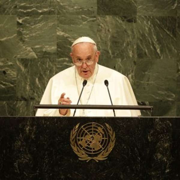 Image result for papa francisco en la ONU