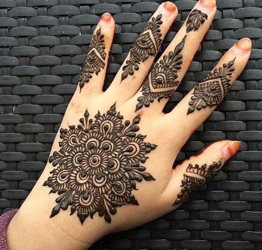 Easy Round Design/Gol Tikka Mehndi for Hands 2018 | FashionGlint