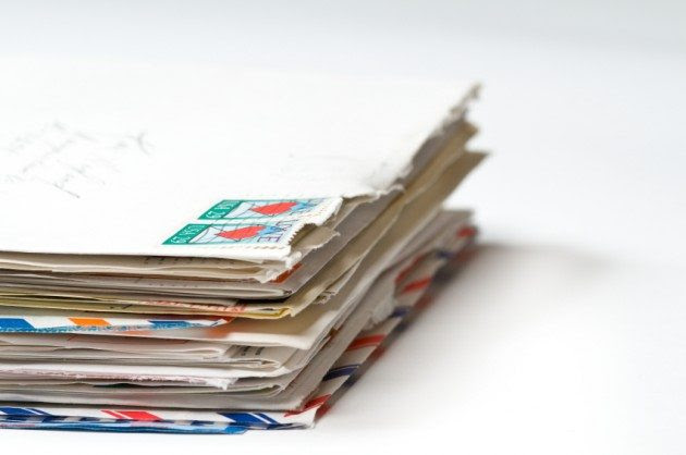 A stack of old letters