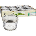 Ball 1/2 Pint Wide Mouth Canning Jars - 12 Pack - 500