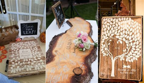 15 Wood Wedding Guest Books You'll Love   Roses & Rings
