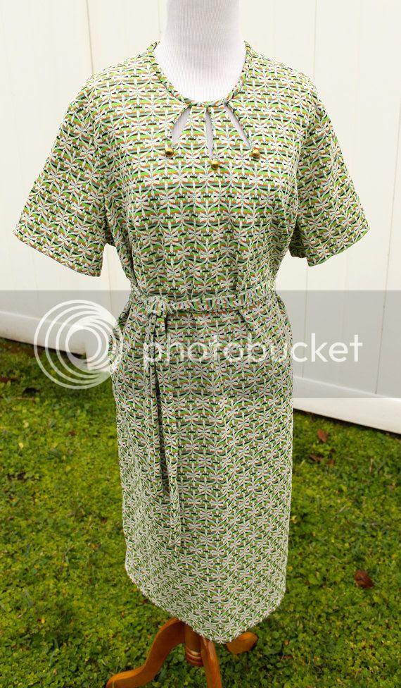 vintage etsy plus size 60s dress