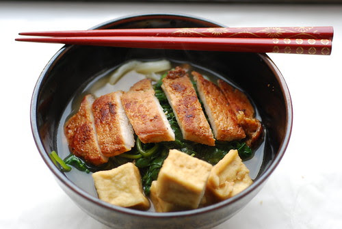 pork chop udon soup